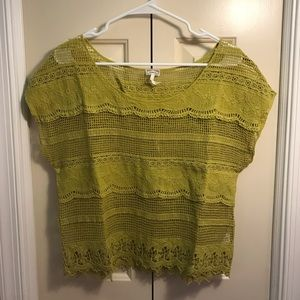 Kiera Green Lace Top Size S
